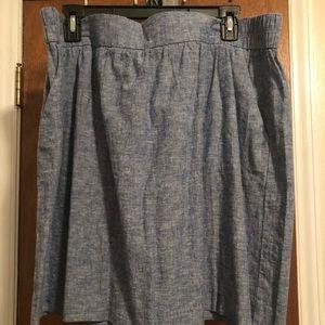 Casual skirt, denim blue, light weight.